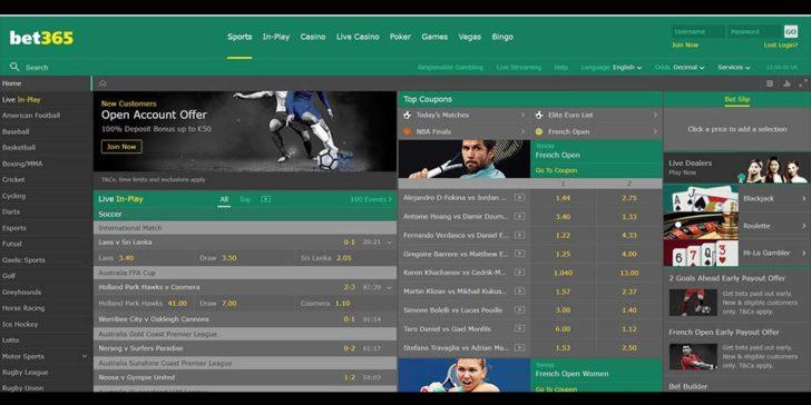 Bet365 gambling and betting